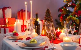 Обои christmas, новый год, happy new year, new year, рождество, candles, свечи