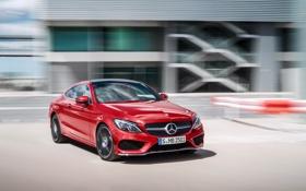 Обои Mercedes-Benz, мерседес, AMG, Coupe, C-class, 4MATIC, 2015