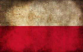 Обои флаг, Польша, Poland, Polska