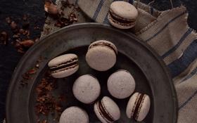 Картинка шоколад, печенье, сладости, сладкое, макарон, macaron