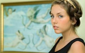 Картинка портрет, картина, причёска