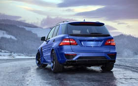 Обои Mercedes-Benz, Power, Blue, AMG, Mountain, Snow, Tuning
