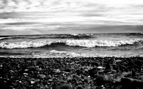 Обои море, волны, природа, камни, побережье, пейзажи, корабли