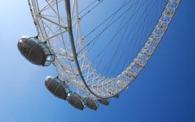 Обои аттракцион, город, city, лондон, london, london eye, чертово колесо