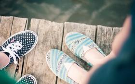 Картинка лето, узор, кеды, шнурки, балетки