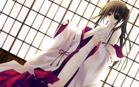 Обои Девушка, повязка, кимоно, бинты