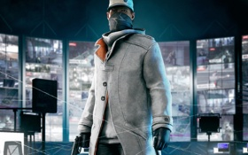 Картинка ubisoft, Watch Dogs, Aiden Pearce, hacker