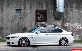 Обои BMW, white, 5 series, f10, vossen, 535i
