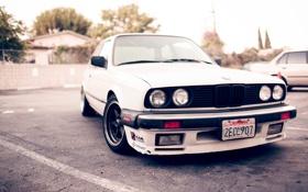 Картинка бмв, BMW, белая, white, E30