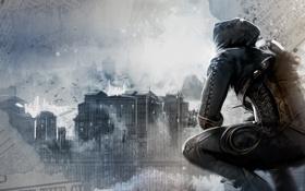 Обои Город, Капюшон, Square Enix, Eidos Interactive, Экипировка, Thief, Garrett