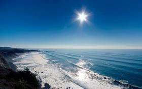 Обои небо, вода, волны