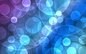 Обои фиолетовый, синий, разноцветный, боке, круги