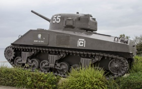 Картинка войны, танк, средний, Sherman, M4A2, периода, мировой