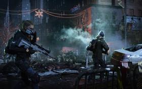 Картинка зима, город, война, солдаты, нью йорк, The Division