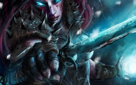 Картинка death, night, knight, sword, rune, Warcraft, wrath of the lich king