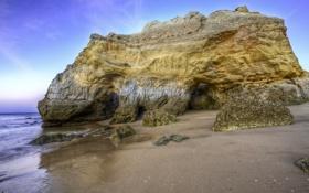 Обои песок, море, вода, камни, фото, океан, скалы