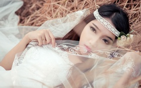 Картинка сено, азиатка, невеста