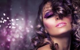 Картинка лицо, стиль, волосы, макияж, тени