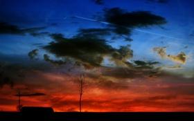 Картинка пейзаж, ночь, облока