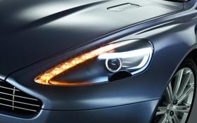 Обои Aston Martin, Rapide, фара, суперкар, четырехдверный, диоды