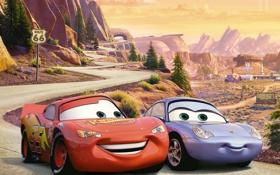 Картинка мультфильм, sport, Pixar, Lightning, racing, Тачки 2, Cars 2