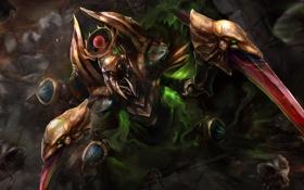 Обои существо, арт, Dota 2, Nyx Assassin, TrungTH