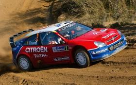 Обои Ралли, Citroen, Спорт, Rally, WRC, Капот, Вид сбоку