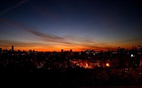 Обои город, ночь, небо