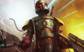 Картинка Star Wars, warrior, boba fett, bounty hunter