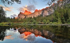 Картинка пейзаж, горы, California, Yosemite National Park