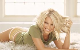 Картинка девушка, улыбка, волосы, блондинка, Jessica Simpson
