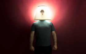 Картинка светильник, фон, человек