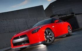 Обои Красный, Машина, Ниссан, Машины, Nissan, Red, GT-R