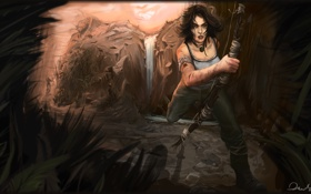Обои Tomb Raider, Лара Крофт, Арт, Lara Croft