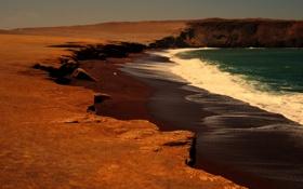 Картинка море, природа, берег, Перу