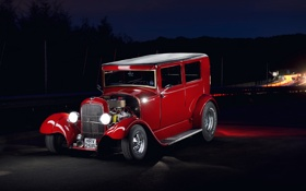 Обои car, Hot Rod, Red Ford