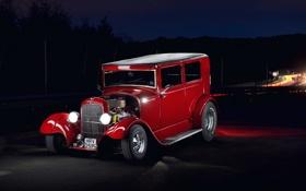 Обои car, Hot Rod, Red Ford