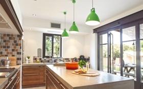 Обои дизайн, дом, стиль, комната, интерьер, кухня, коттедж