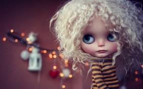 Обои игрушка, кукла, кудри, локоны