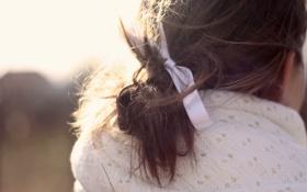 Обои волосы, лента, бант