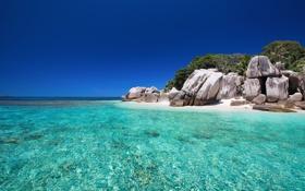 Картинка природа, океан, Сейшелы, экзотика