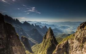 Картинка пейзаж, горы, природа, долина, панорама