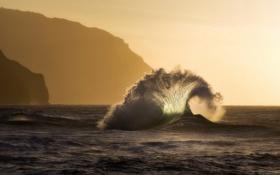 Обои природа, волна, море
