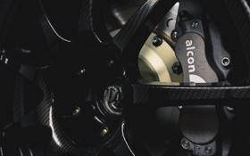 Обои колесо, карбон, диск, carbon, wheel, тормоза, brakes