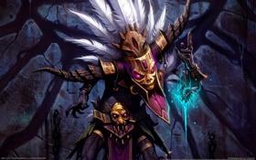 Обои шаман, магия, маска, diablo 3
