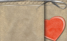 Обои бумага, лента, картон, сердечко