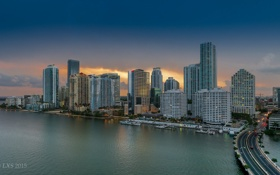 Обои Майами, Флорида, USA, Miami, Skyline, Florida