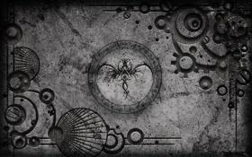 Обои серый, фон, знаки, серебряный, металлик