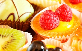 Обои диссертант, фрукты, киви, малина