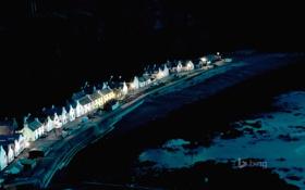 Обои ночь, берег, Шотландия, коттедж, Pennan, Абердиншир